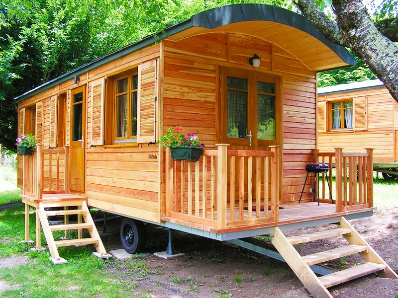 chalet bois pour camping
